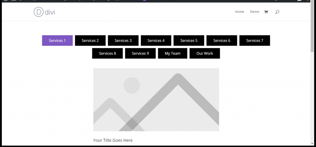 tab menu position top